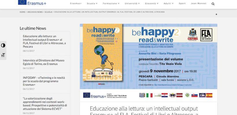 Educazione alla lettura: un intellectual output Erasmus+ al FLA, Festival di Libri e Altrecose, a Pescara